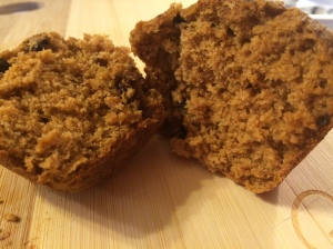 fluffy pumpkin chocolate chip muffins