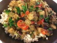 Italian Lentils and Eggplant