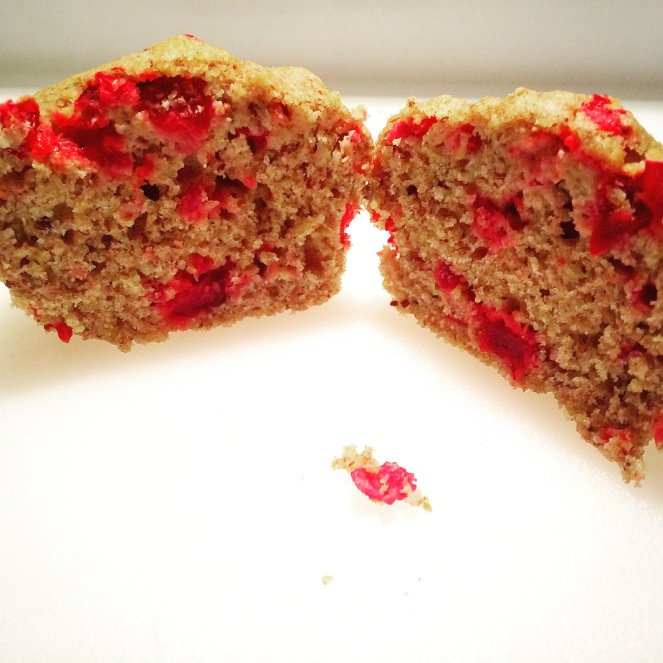 Cranberry Orange Flaxseed Muffins