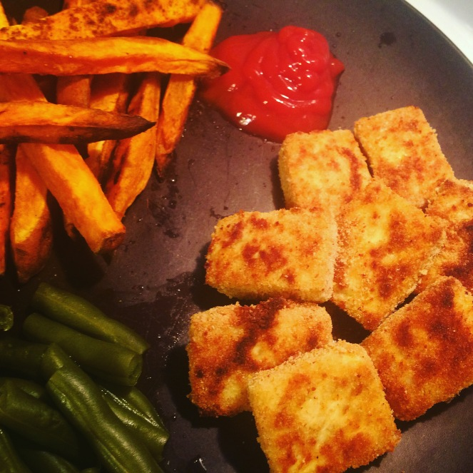{Vegetarian} Chicken Nuggets