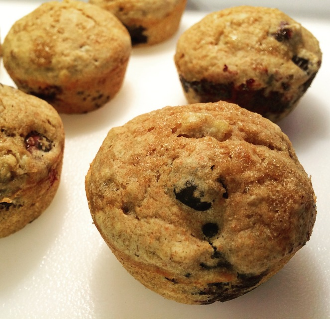 Fat-Free Brown Sugar and Blueberry Muffins